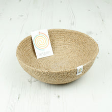 Load image into Gallery viewer, ReSpiin Jute Bowl Medium Natural