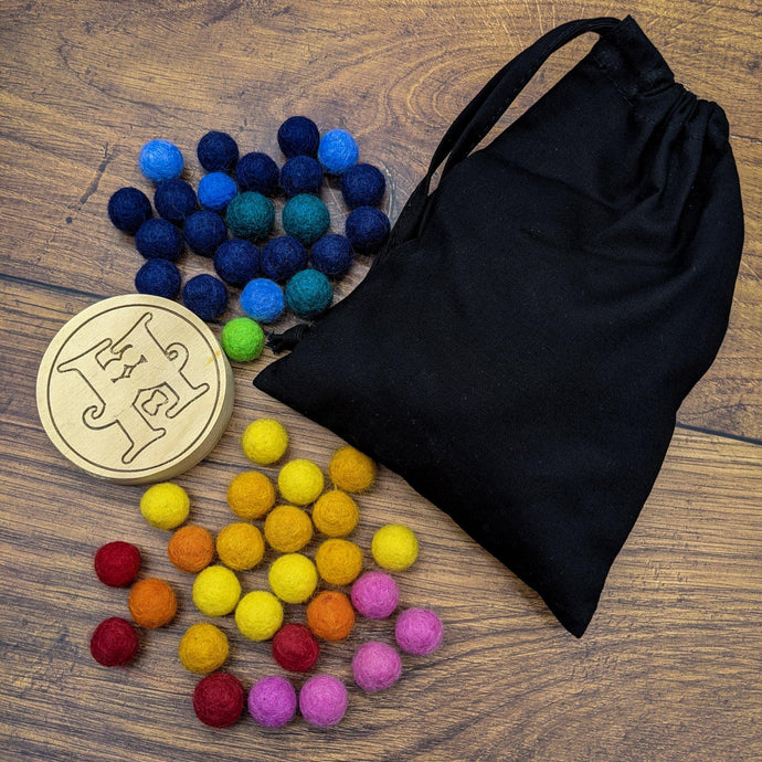 Hellion 100 Felt Balls - Isaac's Treasures