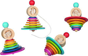 Goki Wooden Spinning Top with pull out String - Isaac's Treasures