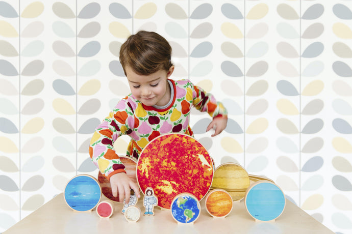 Freckled Frog Travelling Space Wooden Planets - Isaac's Treasures