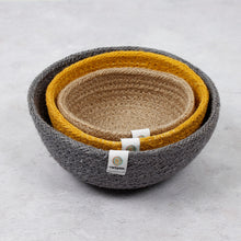 Load image into Gallery viewer, ReSpiin Jute Mini Bowl Set x3 Beach