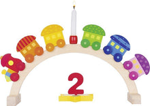 Load image into Gallery viewer, Goki Birthday Arch My Little Train Engine With 5 Carriages