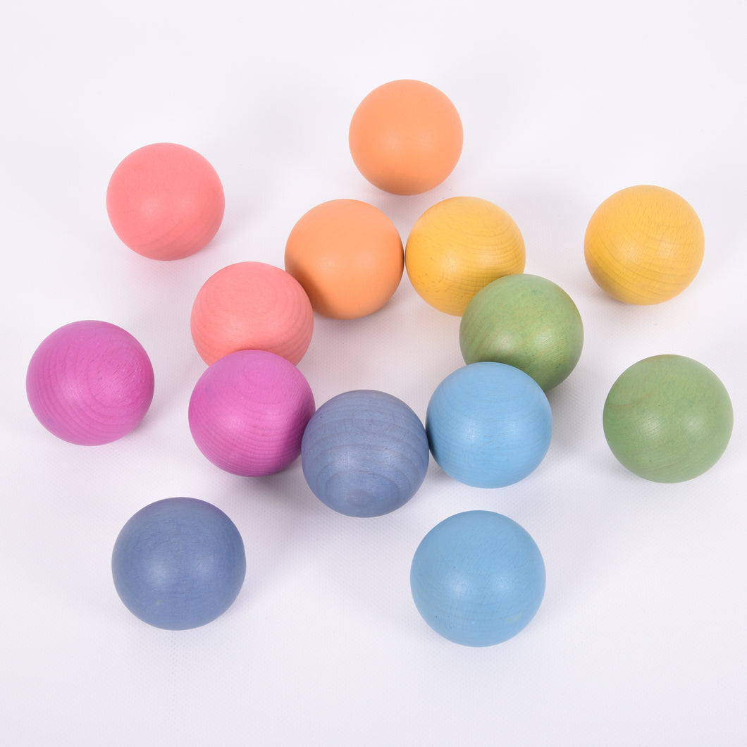 Tickit Loose Parts Rainbow Balls 50mm Single & Sets