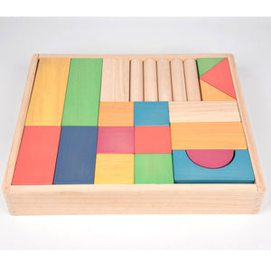 Tickit Rainbow Wooden Jumbo Block Set - Pk54