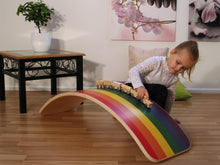 Load image into Gallery viewer, Rainbow Waldorf Balance Board Large Age 0-99