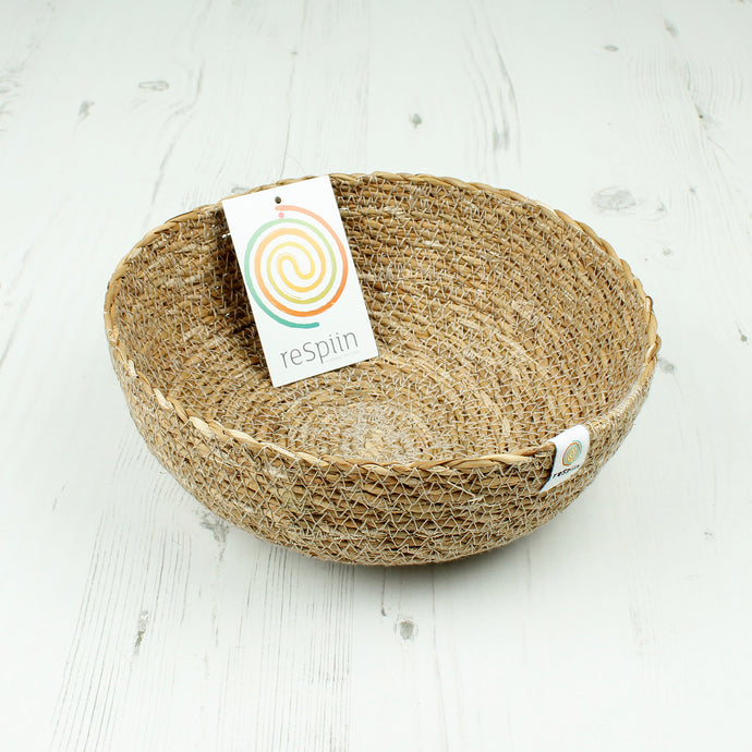 ReSpiin Seagrass Bowl Medium Natural
