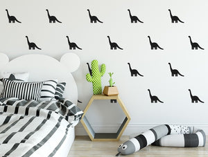 Pastelowelove Small Dino Wall Stickers - Black