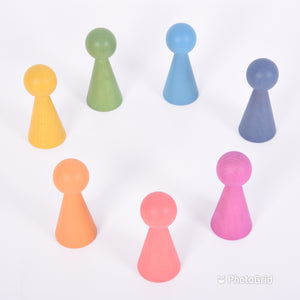 Tickit Loose Parts Rainbow Wooden Figures Single & Sets