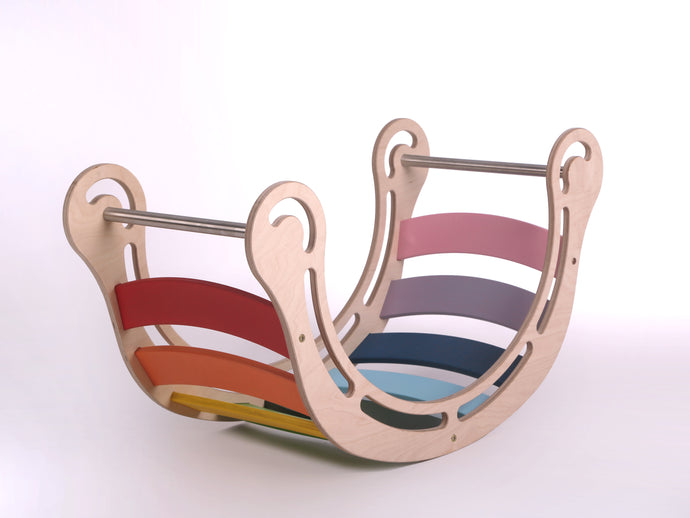 Waldorf Inspired Original Rainbow Rocker Age 0-7