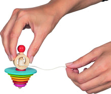 Load image into Gallery viewer, Goki Wooden Spinning Top with pull out String - Isaac's Treasures