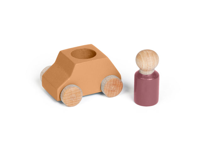 LUBALONA OCHRE WOODEN TOY CAR