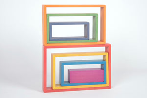 Rainbow Architect Rectangles - 7Pc