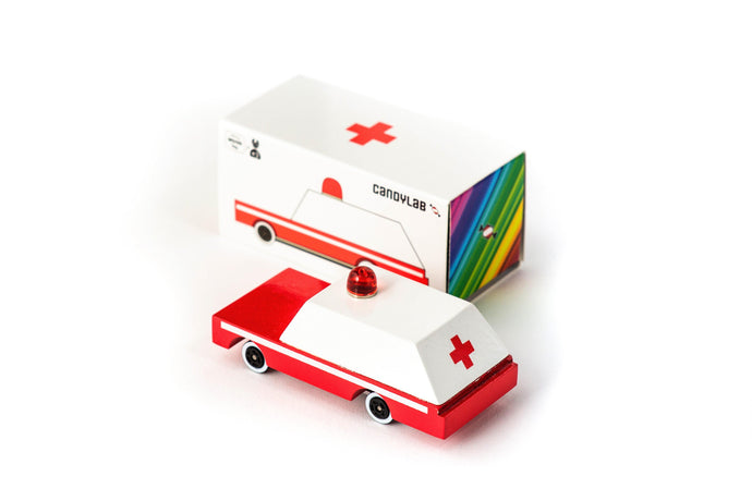 Candylab Wooden Ambulance - Isaac's Treasures