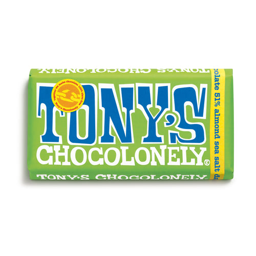 Tony's Chocolonely Fairtrade Dark Almond Sea Salt 180g