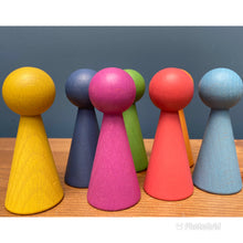 Load image into Gallery viewer, Tickit Loose Parts Rainbow Wooden Figures Single & Sets