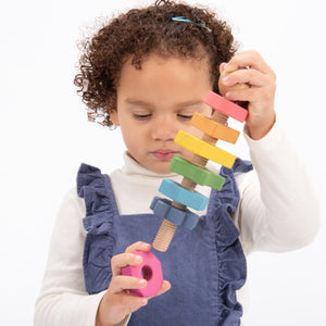 Tickit Rainbow Wooden Shape Twister