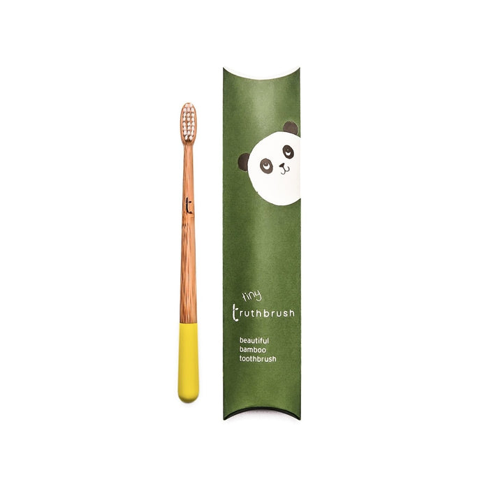 Truthbrush Tiny Bamboo Toothbrush 3-8yrs - Sunshine Yellow