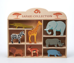 Tenderleaf 8 Safari Animals & Shelf