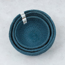 Load image into Gallery viewer, ReSpiin Jute Mini Bowl Set x3 Denim