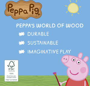 Peppa's Wood Play Boat & Figure
