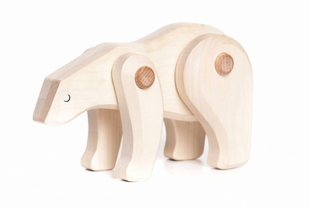 Bajo Tobe Polar Bear Wooden Figure