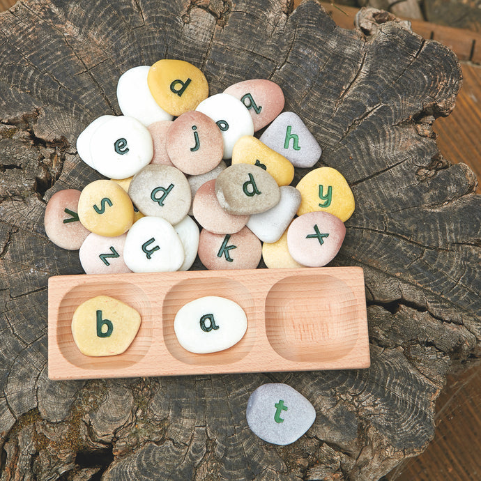 Yellow Door 3 Pebble Word Building Tray