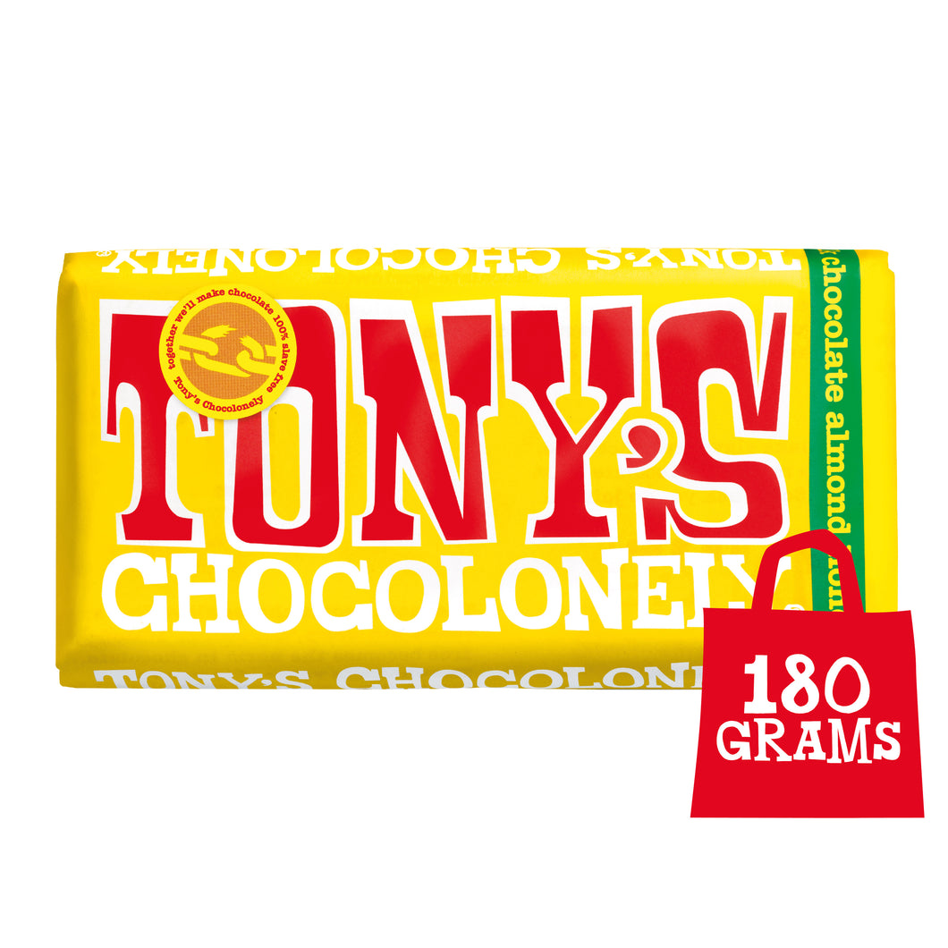 Tony's Chocolonely Fairtrade Milk Chocolate Honey Nougat 180g