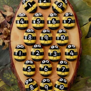 Yellow Door Honey Bee Number Cards