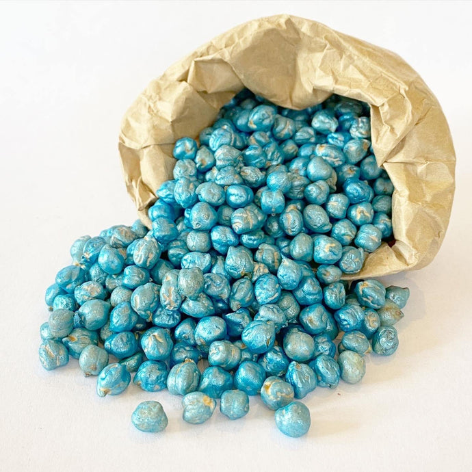 Sensory Scented Beans 175g - Pearlescent Blue - Isaac's Treasures