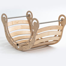 Load image into Gallery viewer, *PRE ORDER* KateHaa Waldorf Inspired FOLDABLE XXL Natural Rocker Age 0-12