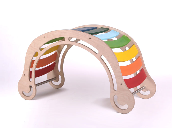 Waldorf Inspired Large Rainbow Rocker Age 0-12