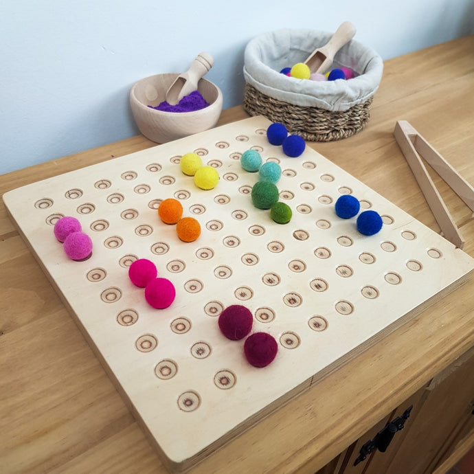 Hellion Montessori Wooden 100 Dots Counting Boards. CE Certified