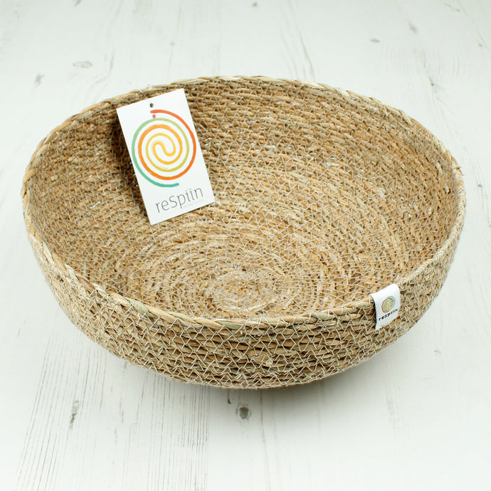 ReSpiin Seagrass Bowl Large Natural