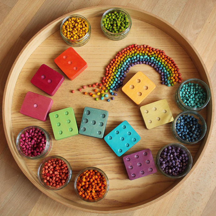 Hellion Wooden Dot Cubes
