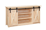 Rolling Barn Door TV Console