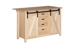 Rolling Barn Door Kitchen Island