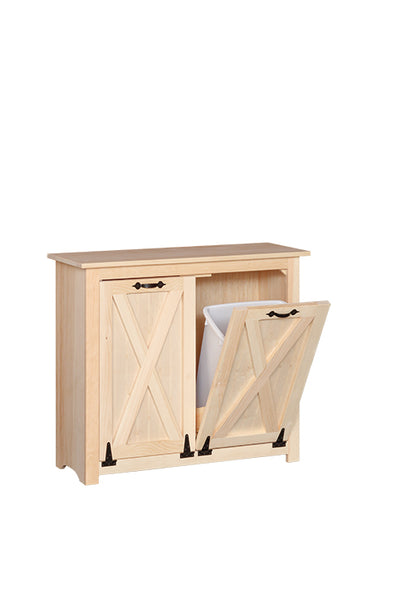 Barn Door trash bin