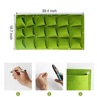 Green Wall Bag Pockets(18 Pockets)