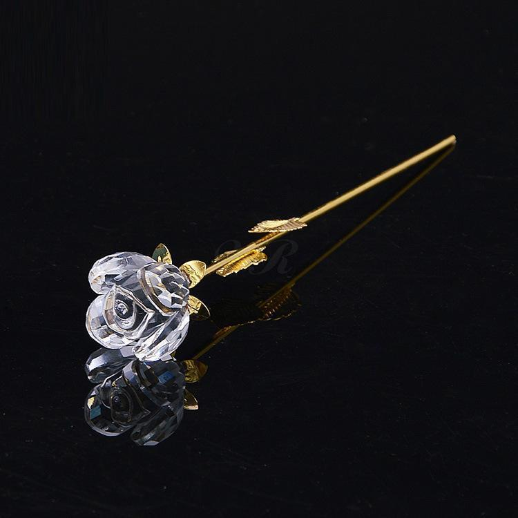 24k Gold Plated Crystal Rose