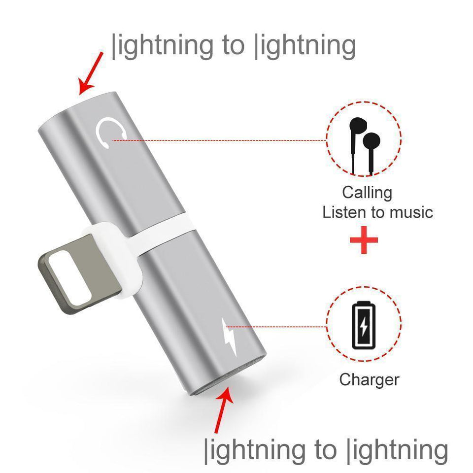 Double Lightning Adapter For Apple