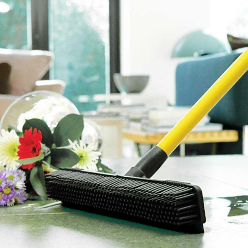 Handhold Multi-Surface Rubber Broom