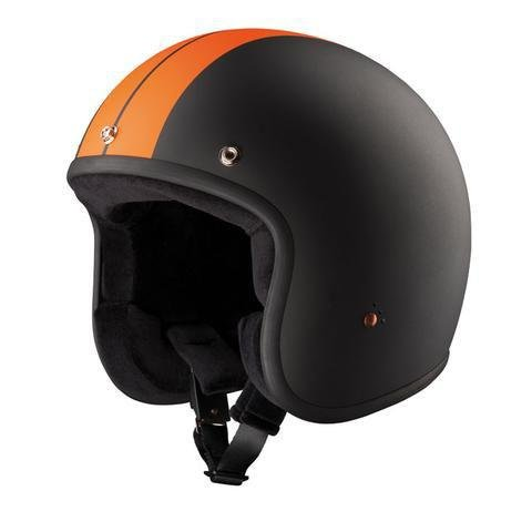BANDIT JET HELMET RACE BLACK/ORANGE - Bandit