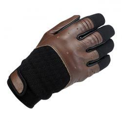 BILTWELL BANTAM GLOVES CHOCOLATE/BLACK - Biltwell