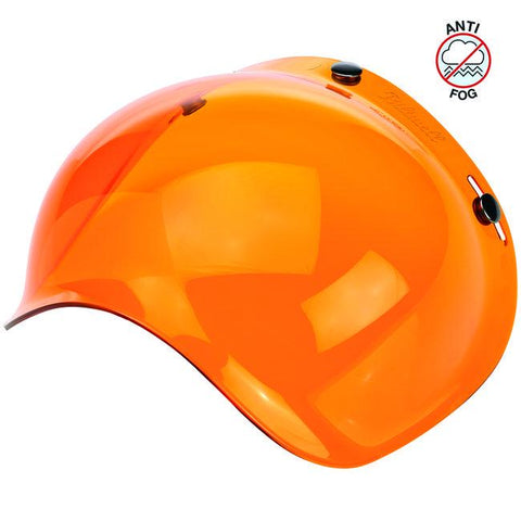 BILTWELL BUBBLE SHIELD ANTI-FOG - AMBER - Biltwell