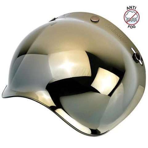 BILTWELL BUBBLE SHIELD ANTI-FOG - GOLD MIRROR - Biltwell