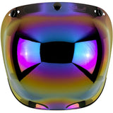 BILTWELL BUBBLE SHIELD ANTI-FOG - RAINBOW MIRROR - Biltwell