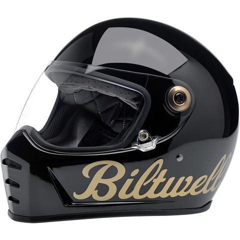 BILTWELL LANE SPLITTER HELMET - GLOSS BLACK/GOLD FACTORY - Biltwell