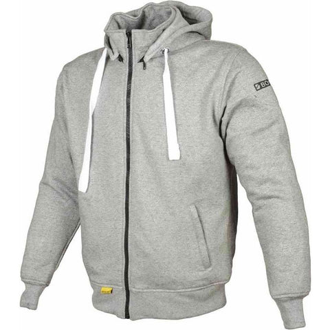Booster Core Motorcycle Hoodie - Light Grey - Booster