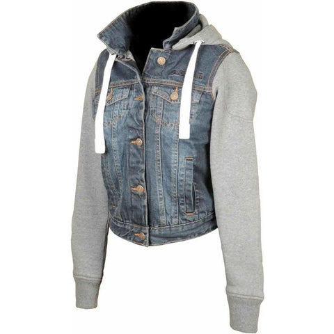 Booster Denim Motorcycle Hoodie Ladies - Booster