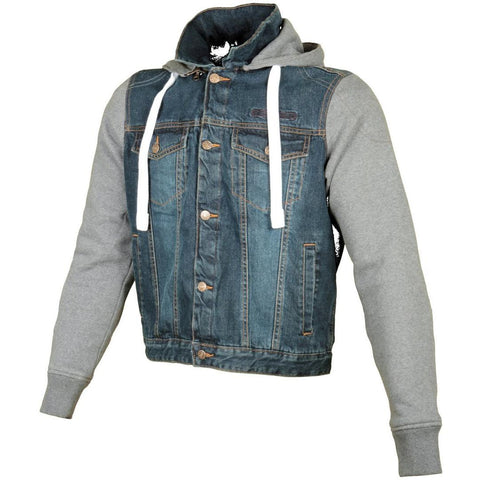 Booster Denim Motorcycle Hoodie - Booster